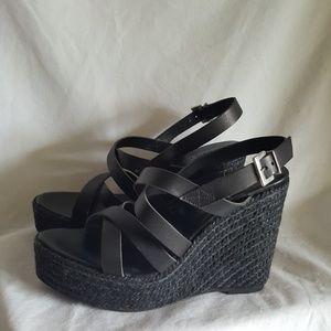 NEW Marisa Rey black espadrille wedge